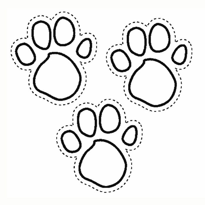 699x699 Paw Print Coloring Pages