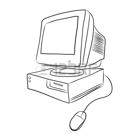 450x450 Old Desktop Computer Stock Photo, Picture And Royalty Free Image