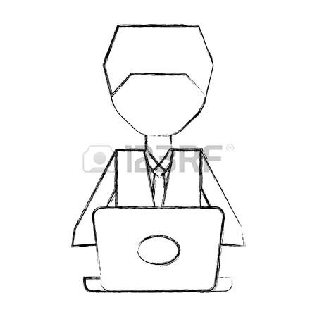 450x450 Sketch Draw Women Pc Faceless Cartoon Vector Graphic Design