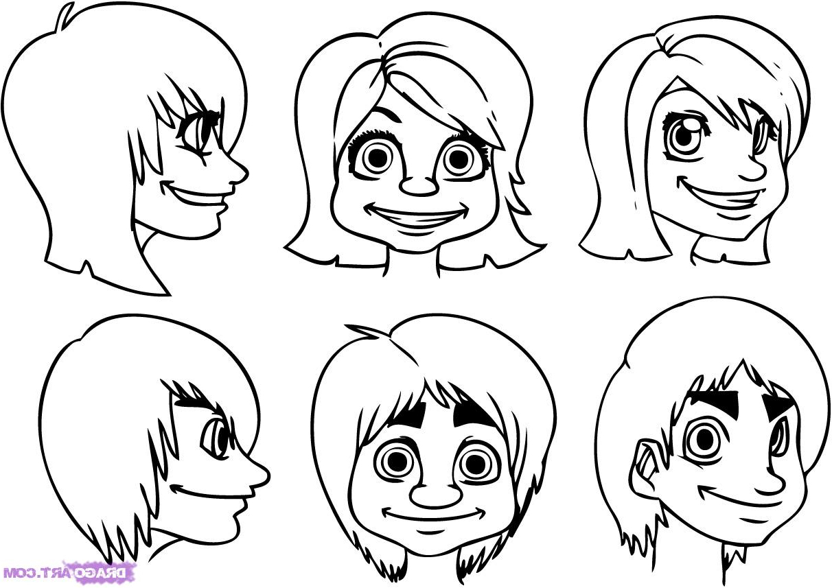 1212x857 Drawings Of Cartoon Faces Cartoon Drawings Of Peoples Faces