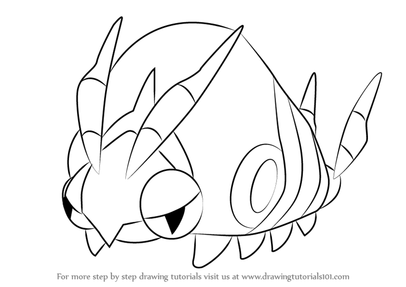 800x566 Learn How To Draw Venipede From Pokemon (Pokemon) Step By Step