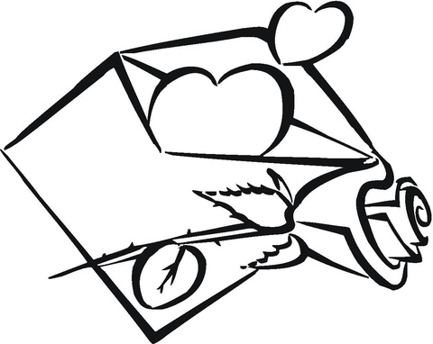 480x382 My Heart Is In Envelope Coloring Page Free Printable Coloring Pages