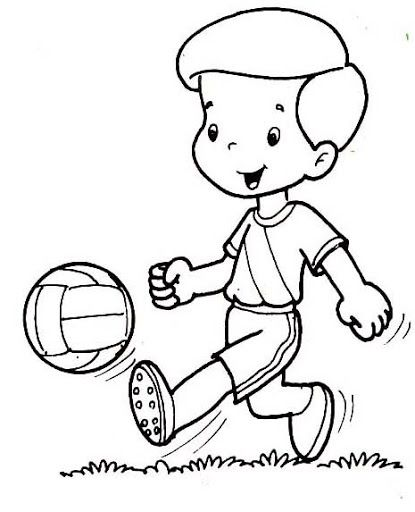 415x512 Physical Education Coloring Pages