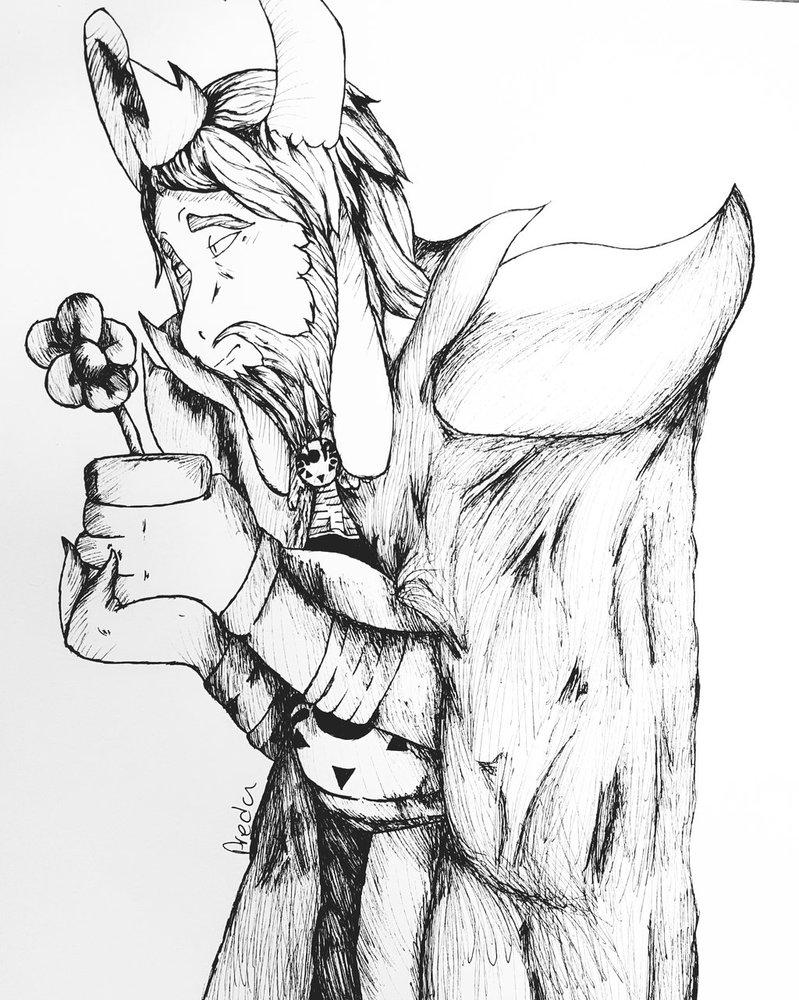 799x1000 Asgore Drawing By Predatornamedraws