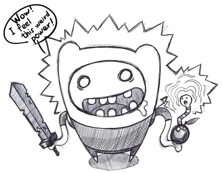 732x571 Cartoon Drawing Blog Adventure Time Finn The Weird Force