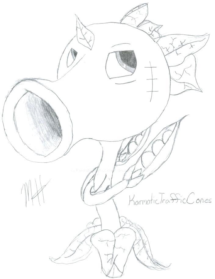 Pea Pod Drawing