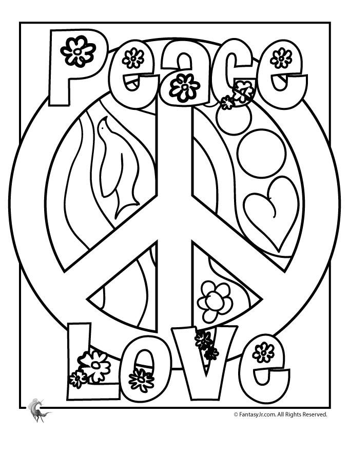 Peace And Love Drawing