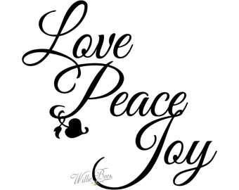 340x270 Joy Love Peace Svg Etsy
