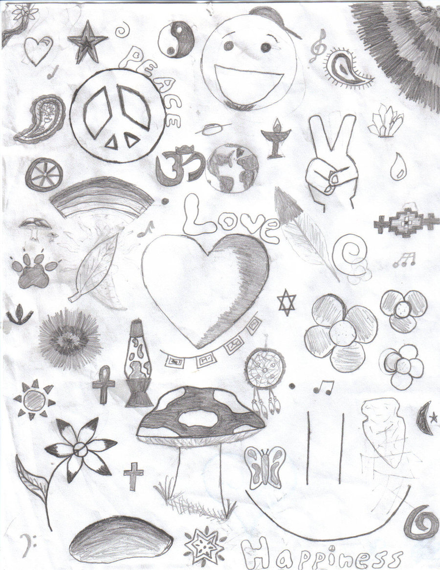 900x1166 Peace, Love, And Happiness By E Lykart