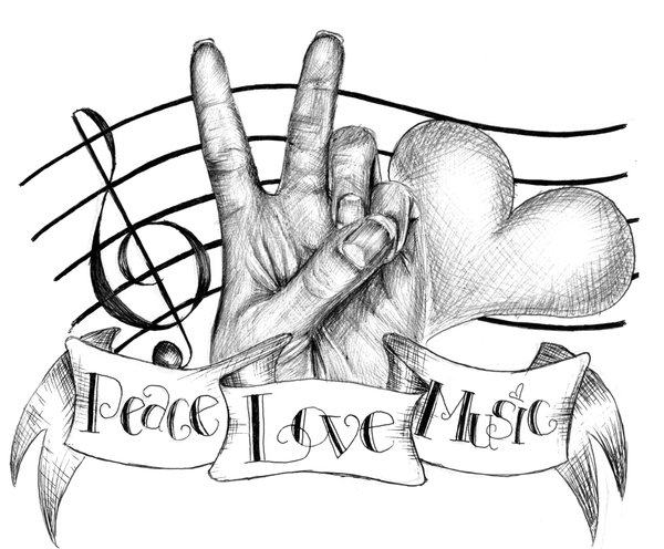 600x496 Peace, Love And Music By Chika33