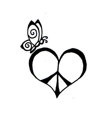 345x399 Peace, Love And Faith I By Marjolijn Ashara