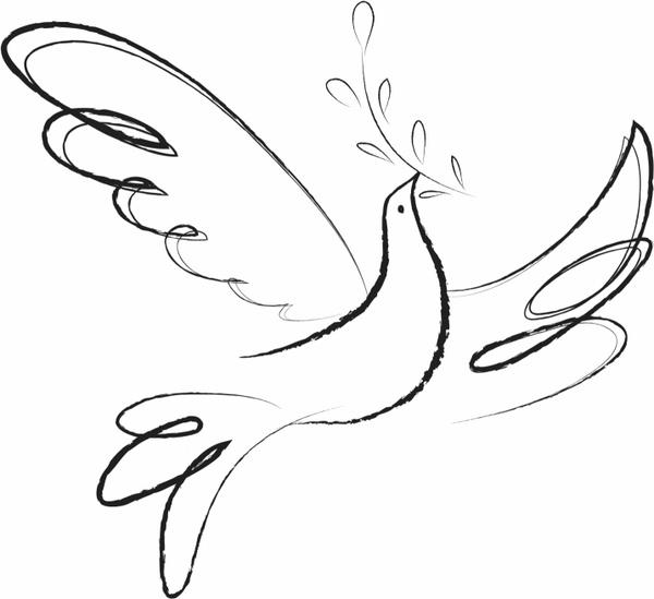 600x549 Peace Love Freedom Free Vector In Adobe Illustrator Ai ( Ai