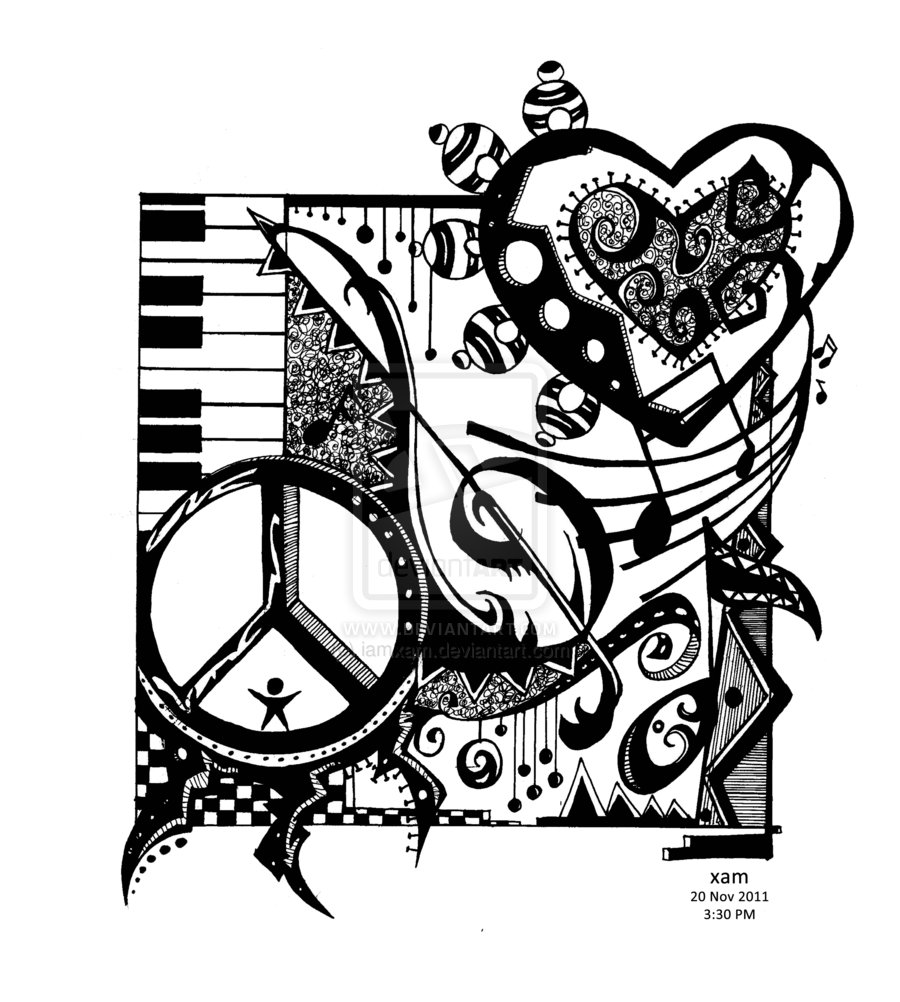 900x1002 Peace Love And Rock N' Roll By
