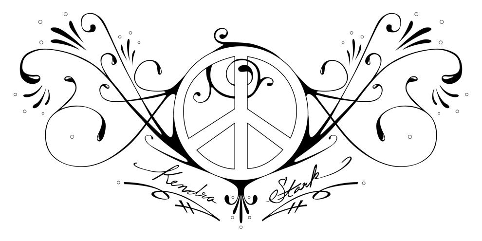990x495 Peace And Love Tattoo By Samhall