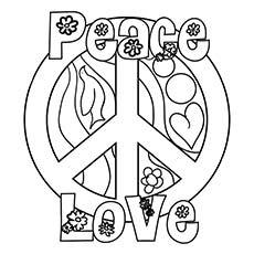 230x230 Peace Coloring Pages Coloring Page For Kids
