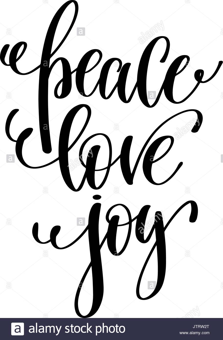 912x1390 Peace Love Joy Hand Lettering Positive Quote To Christmas Stock