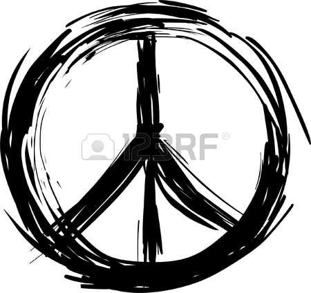 450x424 Drawn Peace Sign Pece