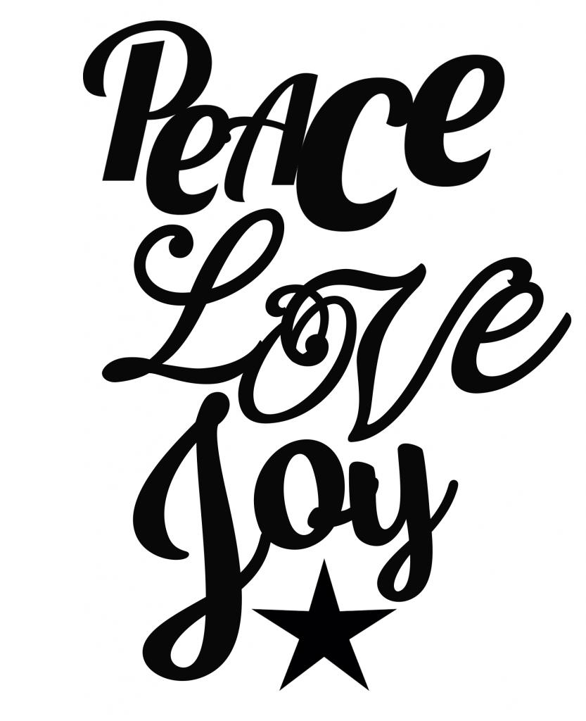 833x1024 Free Peace Love Joy Svg File