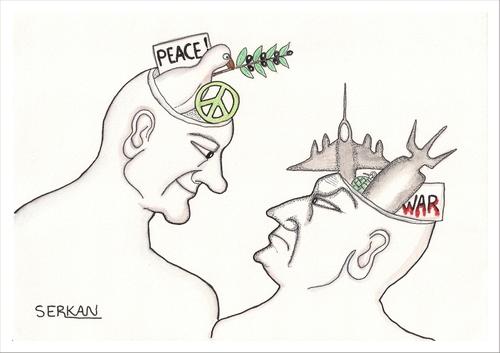 500x353 Peace And War Men By Serkan Surek Politics Cartoon Toonpool