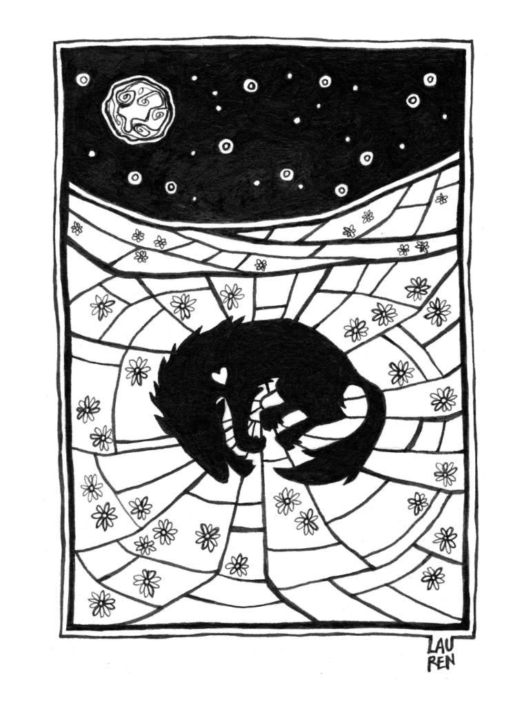 770x1027 Saatchi Art Silent Night (Peace) Drawing By Lauren Sebastian