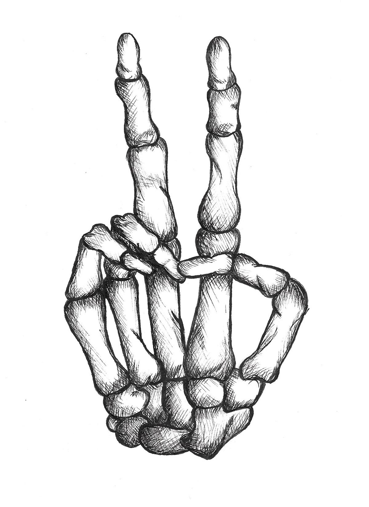 1200x1649 Skeleton Peace Hand On Behance