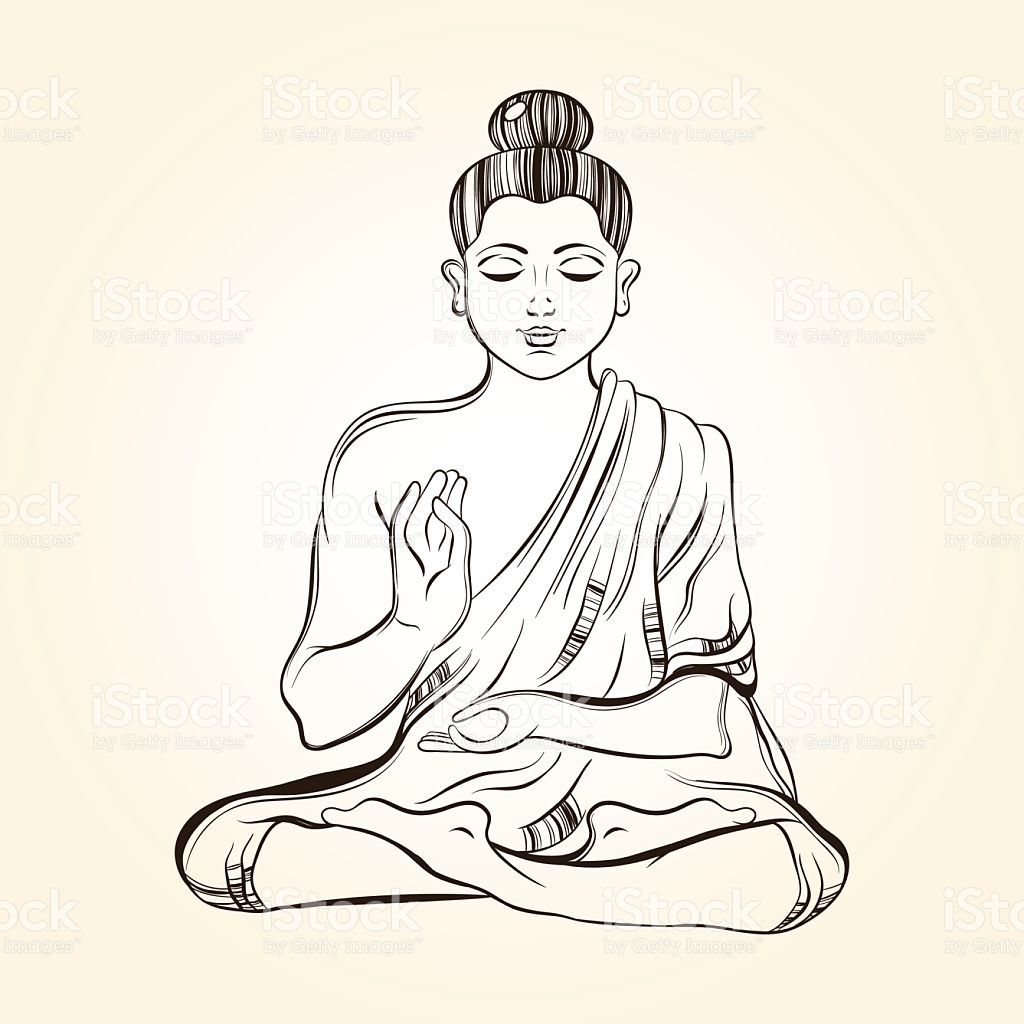 1024x1024 Drawn Peace Sign Buddha