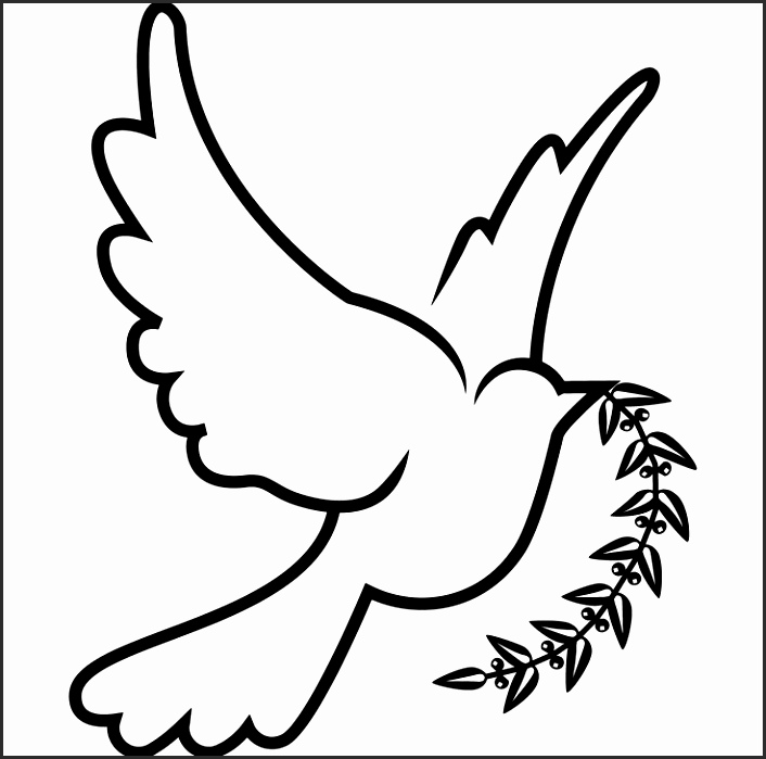 706x699 Easy Dove Drawing Be2ha Unique Sketch Style Human Hands With Peace