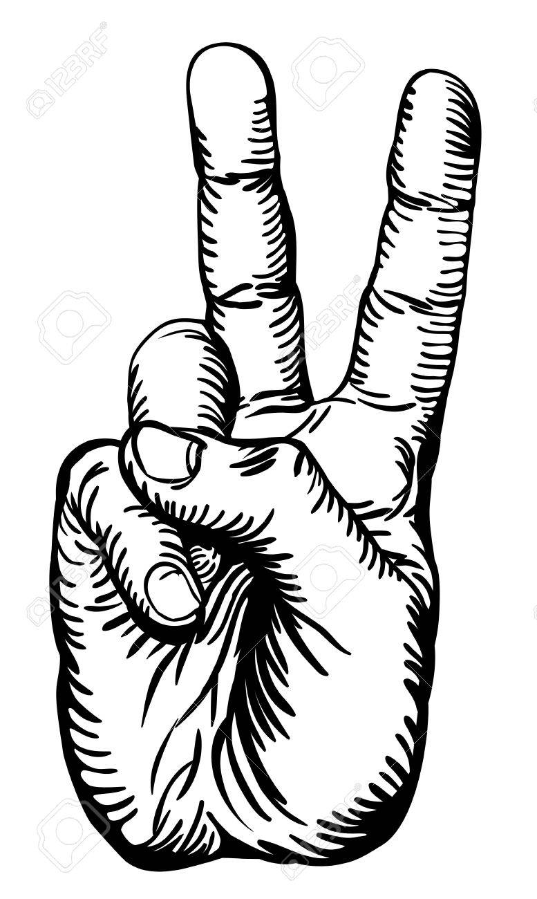 777x1300 A Black And White Illustration Of Human Hand Giving