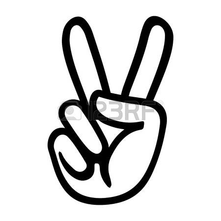 450x450 Peace Sign Clipart Hand Drawing