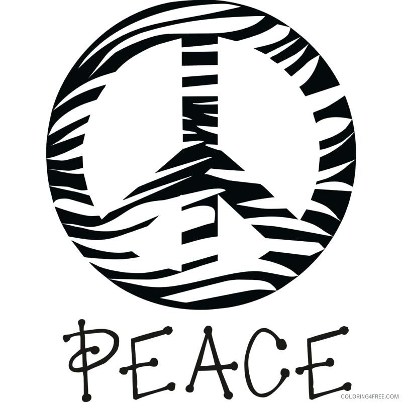 800x800 Coloring Pages Of Peace Signs Peace Sign Coloring Pages Zebra