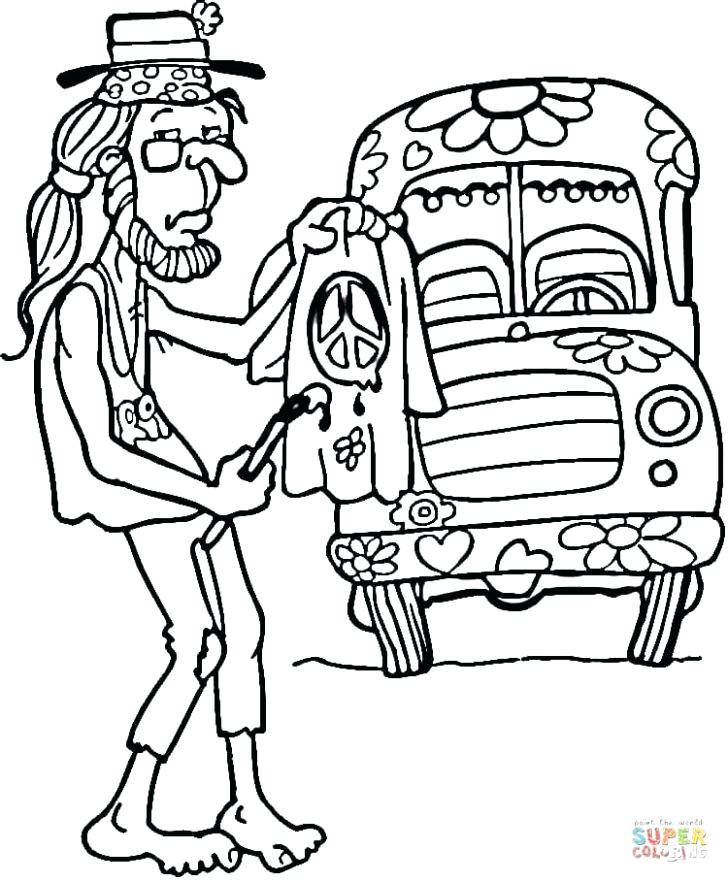 728x882 Entertaining Hippie Coloring Pages Kids Free Printable Peace Sign