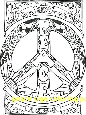 300x401 Peace Coloring Pages Hippie Coloring Pages Peace A Peace Sign