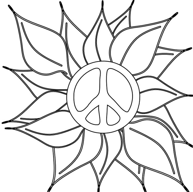 Peace Sign Drawing at GetDrawings.com | Free for personal use Peace ...