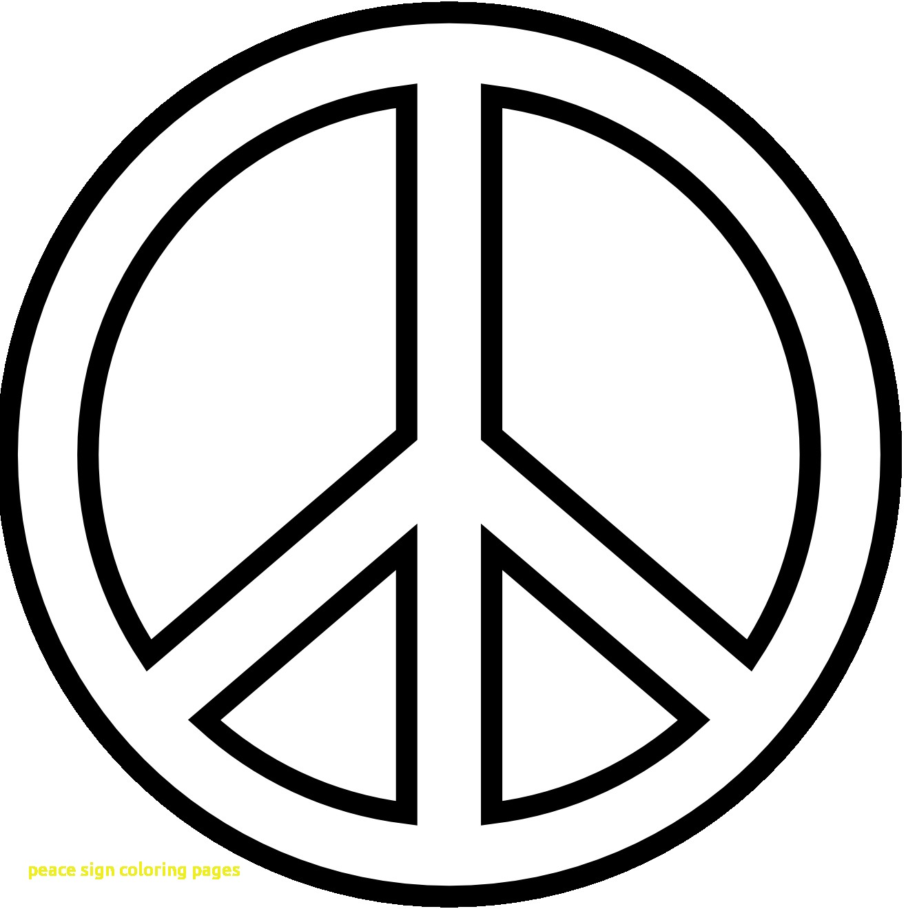 1331x1319 Peace Sign Coloring Pages With Peace Signs Coloring Pages Page 1