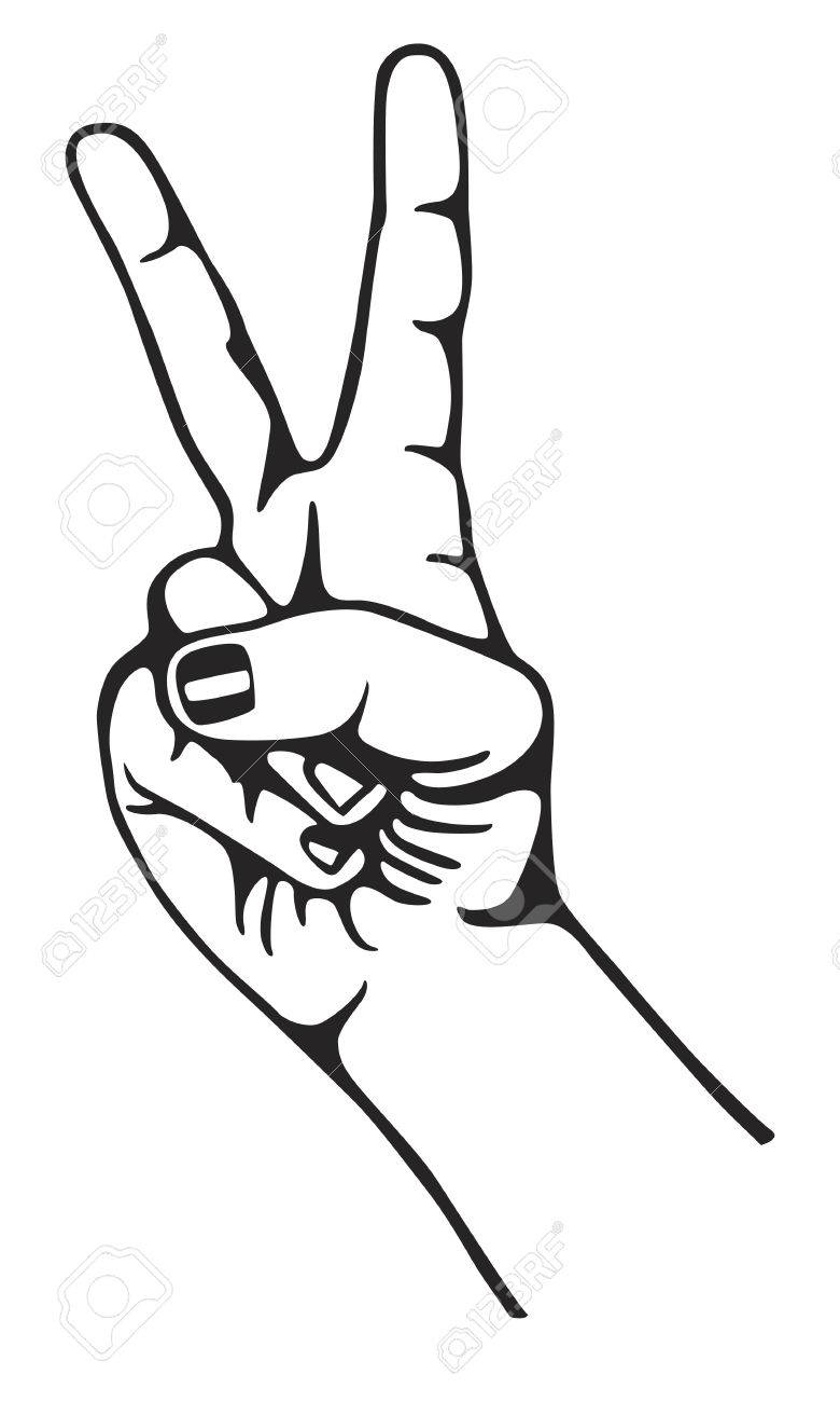 Peace Sign Hand Drawing at GetDrawings com | Free for