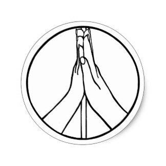 324x324 Peace Symbol Hand Stickers Zazzle