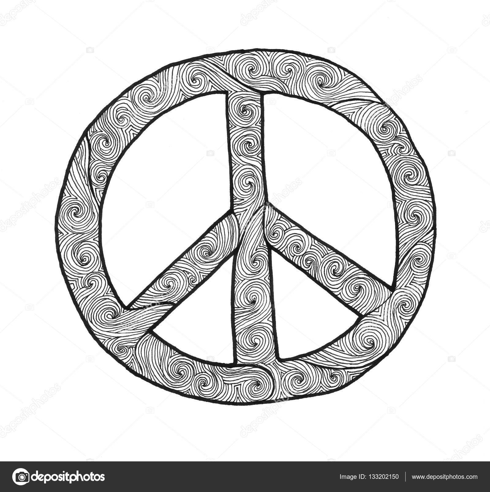 1600x1607 Peace Sign Hand Drawn Stock Photo Natstory