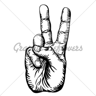 325x325 Victory V Salute Or Peace Hand Sign Gl Stock Images