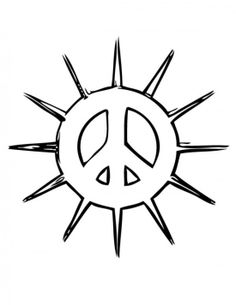 236x305 Drawn Peace Sign Printable