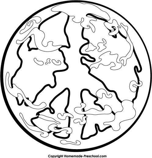 498x518 Free Peace Sign Clipart