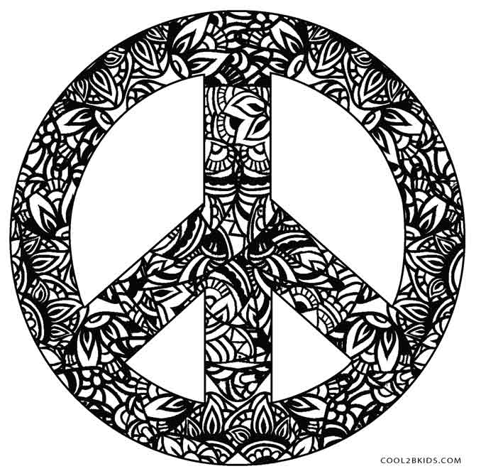 678x670 Free Printable Peace Sign Coloring Pages Cool2bkids