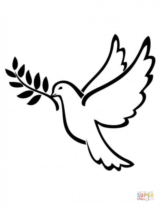 550x711 Peace Dove Coloring Page Free Printable Coloring Pages