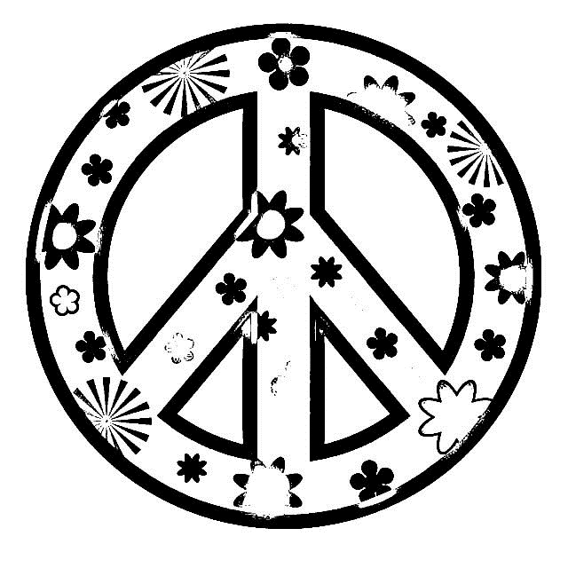 640x640 Coloring Pages Of Peace Signs For Girls Colouring Pretty Draw Page