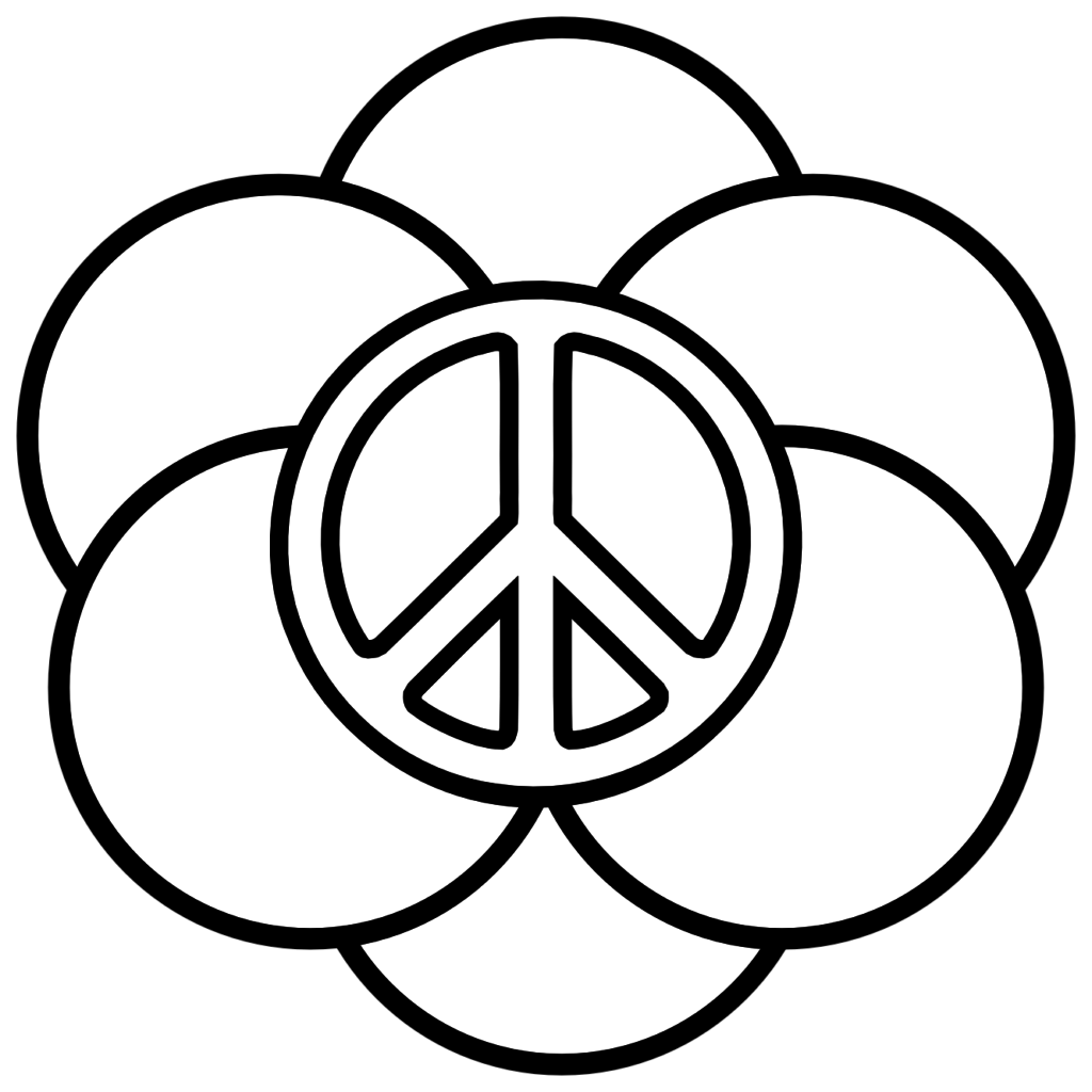 1024x1024 Peace Sign Coloring Pages