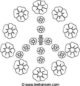 277x300 Peace Sign Flowers Coloring Sheet