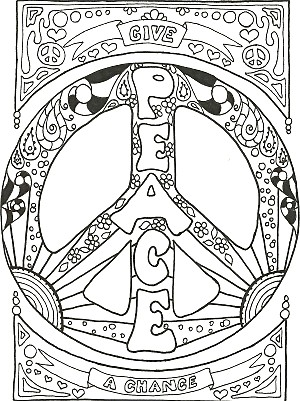 300x401 Peace And Love Coloring Pages My Peace Sign Art Coloring Books