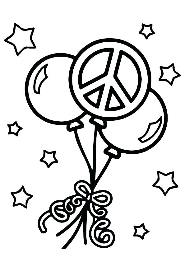 595x842 Coloring Pages Of Peace Signs Goofy Peace Sign Coloring Page Peace