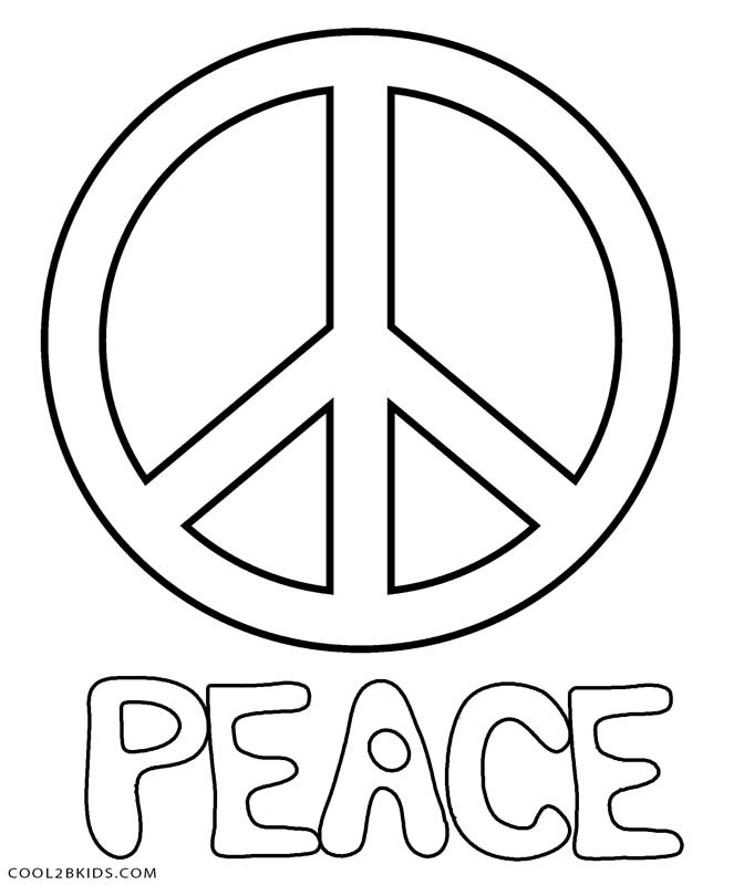 672x800 Printable Coloring Pages Of Peace Signs