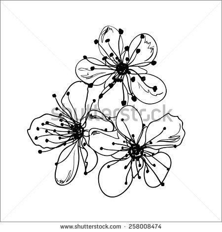 450x470 Drawn Ume Blossom