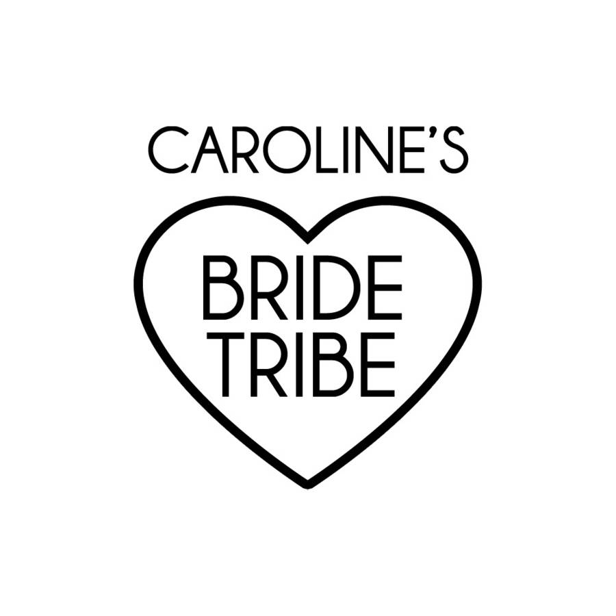 900x900 Personalised Bride Tribe Temporary Tattoo By Peach Blossom